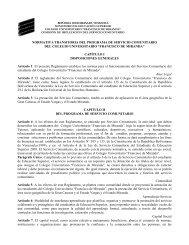 normativa transitoria del programa de servicio comunitario del ...