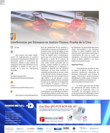 Interferencias por Fármacos en Análisis Clínicos: Prueba de la Urea