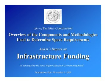 Infrastructure Funding - Office of Facilities Coordination - Texas A&M ...