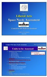 Liberal Arts Space Needs Assessment - Office of Facilities ...