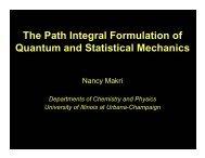 Real-time Path Integral MC - University of Illinois at Urbana ...