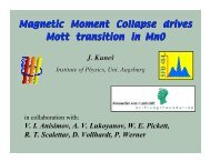Magnetic Moment Collapse drives Mott transition in MnO - Materials ...
