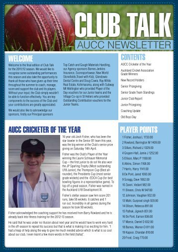 May - Auckland University Cricket Club