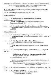 Tere tulemast - Eesti Psühholoogide Liit