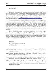 ISSA BIBLIOTHEK GESAMTVERZEICHNIS Stand Dezember 2006 1 ...