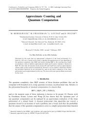 Approximate Counting and Quantum Computation - Station Q