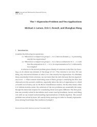 The N-eigenvalue problem and two applications - Station Q