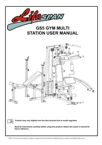 Marcy impex Multi Gym Assembly instructions Owners Manual pdf