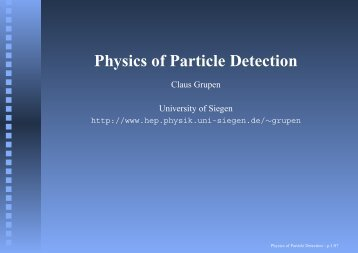 Physics of Particle Detection