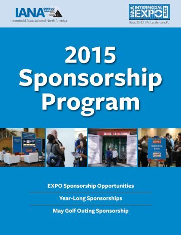 2013 Sponsorship Program Brochure - The Intermodal Association ...
