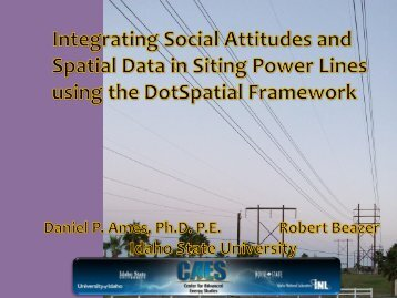 Integrating Social Attitudes and Spatial Data in Siting ... - MapWindow