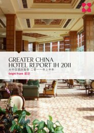 Greater china hotel report 1H 2011 - Knight Frank Macau