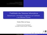 Métodos Formais - Departamento de Informática da Universidade ...