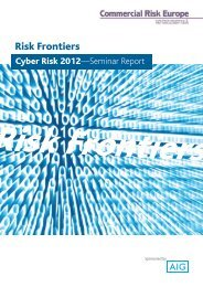 Cyber Risks 2012 - European Risk Insurance Management News ...