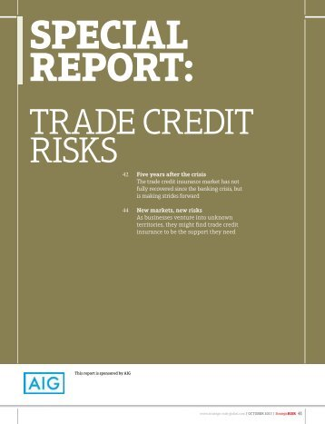Strategic Risk Special Report - Trade Credit Risks - AIG