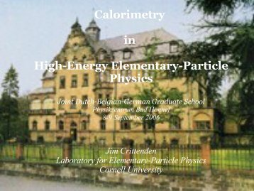 Calorimetry in High-Energy Elementary-Particle Physics