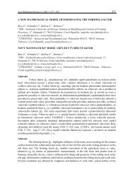 A NEW MATHEMATICAL MODEL DETERMINATING THE FORMING ...