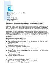 Verzeichnis der Mindesteinrichtungen - Schweizerischer Podologen ...