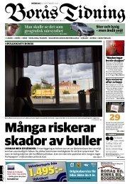 En av fyra bor i bullrig miljö - Borås Stad