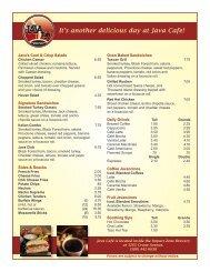 Java Cafe Breakfast Menu-updated 10-16-12 - Fort Sill MWR