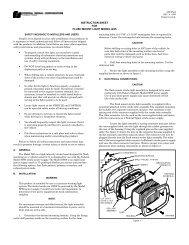 instruction sheet for flush mount light model gs5 - Federal Signal