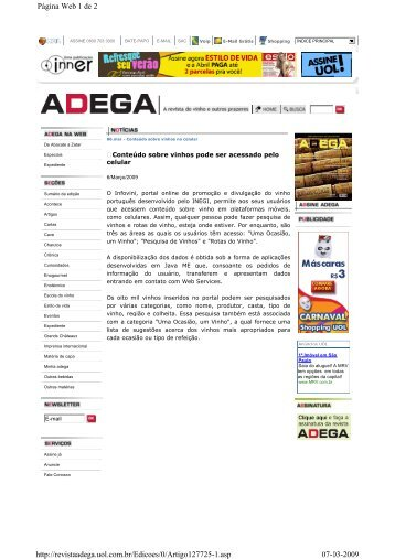Página Web 1 de 2 07-03-2009 http://revistaadega.uol.com.br ...