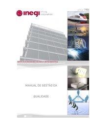 Manual de Gestão da Qualidade - inegi - Universidade do Porto