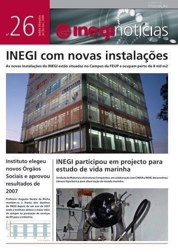 Inegi Notícias 26 | 2008 Jan-Mar - Universidade do Porto