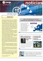 Inegi Notícias 10   2003 Jul - Universidade do Porto
