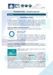 PROGRAMA GERAL – FÓRUM DO MAR 2012 - oceano xxi