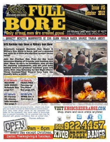 Issue #5 October 2012 - Knob Creek Gun Range