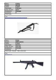 Marca Calico Modelo M-100 Calibre .22LR Capacidade 100 tiros ...