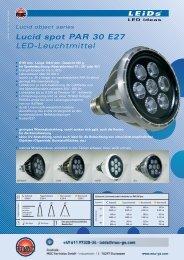 Lucid spot PAR 30 E27 LED-Leuchtmittel