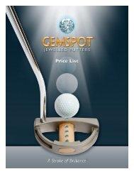 2012 Gemspot Price List - GemSpot Putters