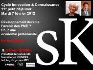 Cycle Innovation & Connaissance 11° petit déjeuner Mardi ... - Skema