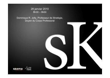 28 janvier 2010 - Skema