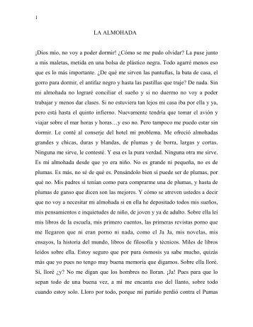 LA ALMOHADA - Tomás Urtusástegui