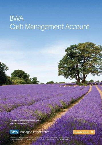 BWA Cash Management Account - Trader Dealer Online