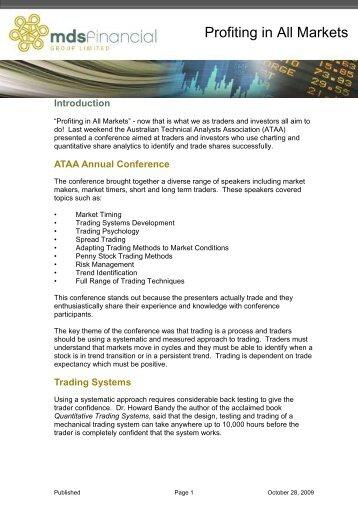 Profiting in All Markets - Trader Dealer Blog - Trader Dealer Online