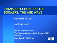 Transportation for an Aging America Presentations for ... - CalACT