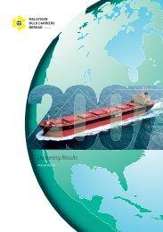 Annual Report 2007 - Malaysian Bulk Carriers Berhad