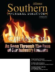 Cremation 2011 - The Southern Funeral Director Magazine