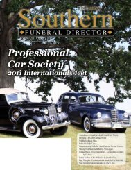 Professional Car Society - The Southern Funeral Director Magazine
