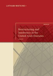 Restructuring and Insolvency in the United Arab ... - Latham & Watkins