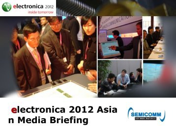 electronica 2012 Asia n Media Briefing - Display Plus