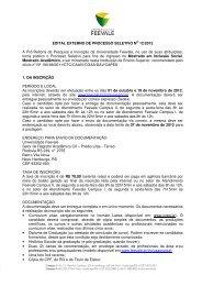 EDITAL EXTERNO DE PROCESSO SELETIVO NO 12 ... - Feevale