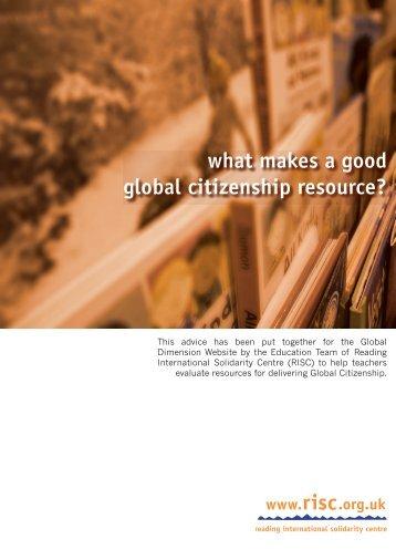 what makes a good global citizenship resource? - Development ...
