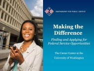 Making the Difference - The Career Center of the University of ...