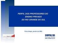 PERFIL DOS PROFESSORES DO ENSINO PRIVADO ... - Sinpro/RS