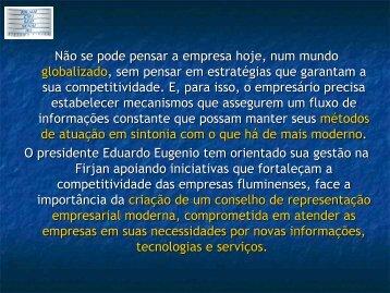 Apresentação do PowerPoint - Movimento Brasil Competitivo